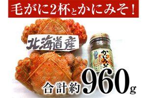静岡県焼津市 毛がに2杯とかにみそ イメージ