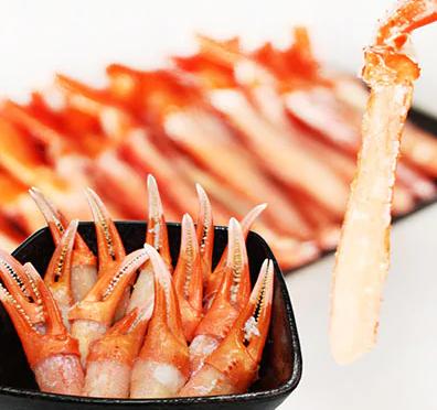 稚内産紅ずわい棒肉&蟹爪セット(合計1Kg入)