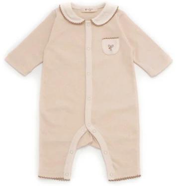 衿付きカバーオール(スーピマオーガニック綿スムース)サイズ:60cm(3か月~) イメージ