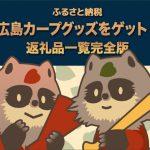 カープ女子必見!ふるさと納税で広島東洋カープグッズをゲットしよう!
