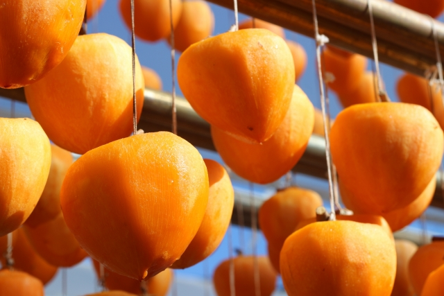 とろ~りとろける柿の果実「あんぽ柿」<竹かご入り> イメージ