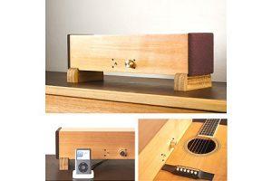 Ittai 楽器素材でつくる木製の一体型ステレオ