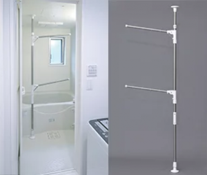 浴室突っ張り物干し
