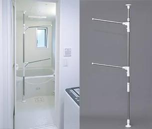 浴室突っ張り物干し イメージ