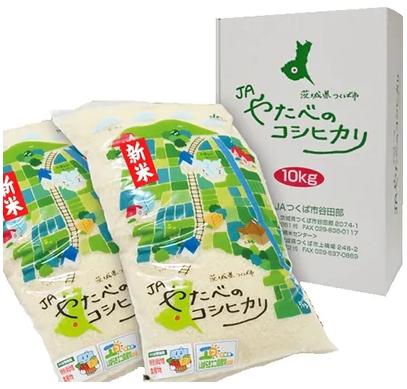 つくば市産コシヒカリ(精米5kg/2袋)  イメージ