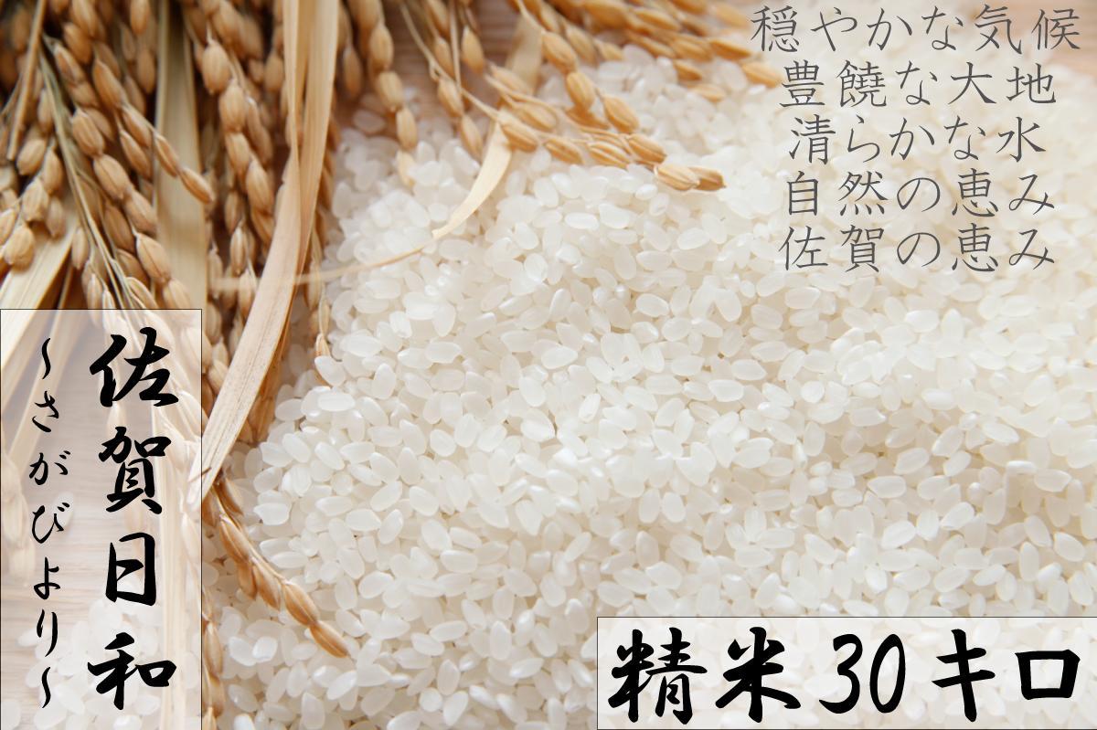 【H30年産米】佐賀県産『さがびより(精米30kg)』9年連続特A受賞