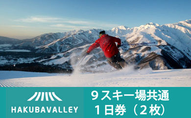 HAKUBA VALLEY 9スキー場共通1日券(2枚) 【寄付金額:40,000円】 イメージ