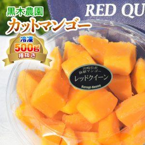 黒木農園お手製!宮崎県産 冷凍カットマンゴー(種なし) 500g 人気の一品!