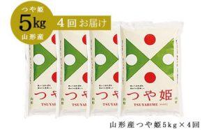 【定期便4回】山形産 つや姫 精米5kg×4回(頒布会)