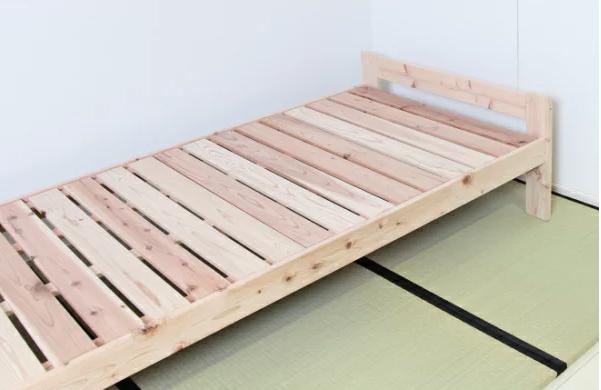 国産天然木 檜すのこベッド(宮無しタイプ)  イメージ