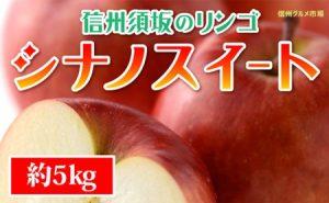 【信州須坂のりんご】シナノスイート≪秀品≫約5kg