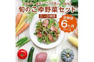 野菜ソムリエが選ぶ<旬のこゆ野菜セット 6ヵ月コース 定期便>