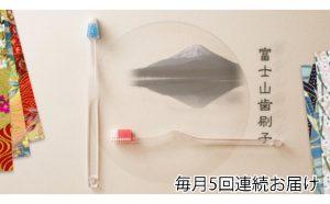 富士山歯ブラシ2本セット定期便(5回連続) 【定期便・雑貨・日用品・消耗品・ハブラシ・頒布会】