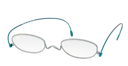 薄さ2mmの老眼鏡 度数:+1.00【ペーパーグラス】オーバル 青竹