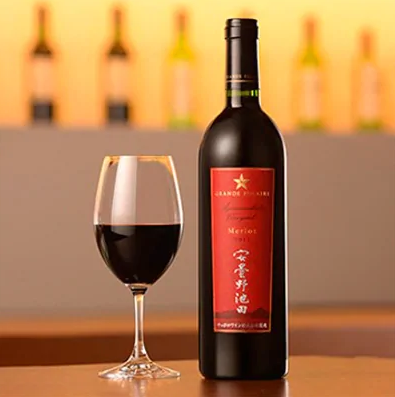 サッポログランポレール安曇野池田ヴィンヤードワイン「メルロー」750ml