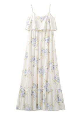 ジェラート ピケ ビッグフラワーキャミドレス